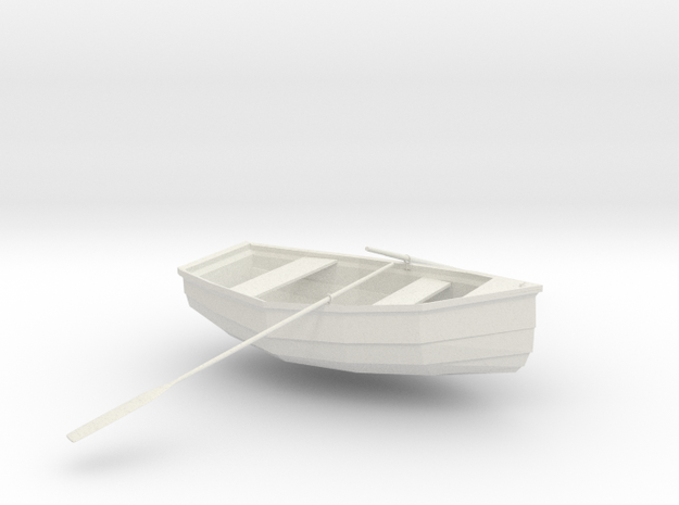 Rowboat in White Strong & Flexible