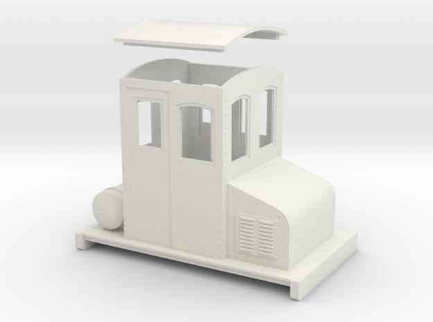 On30 small electric loco no 1 in White Natural Versatile Plastic