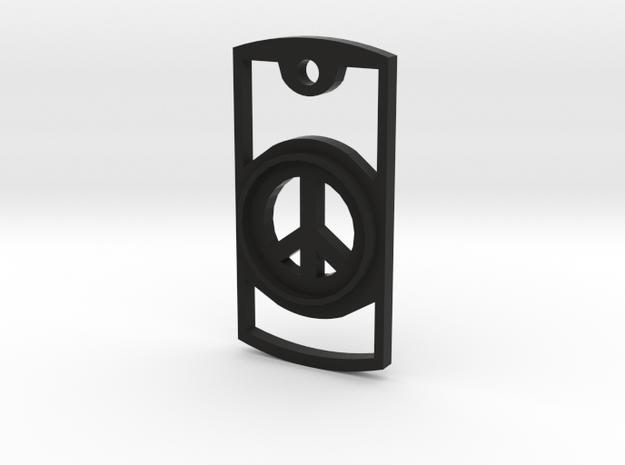 Peace Symbol Necklace 3d printed