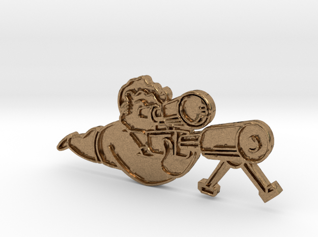 SniperPin in Natural Brass