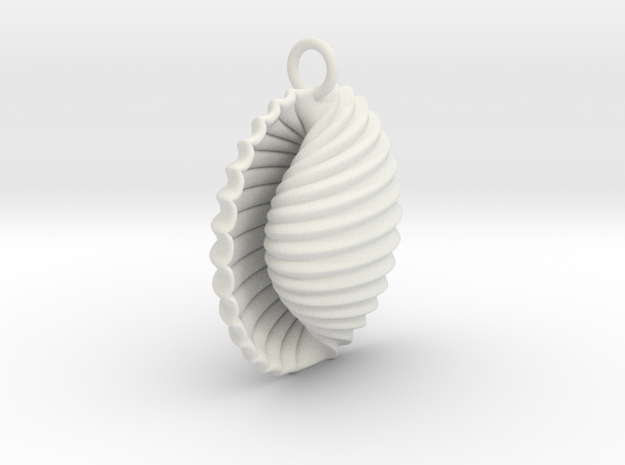 Adam Pendant in White Natural Versatile Plastic
