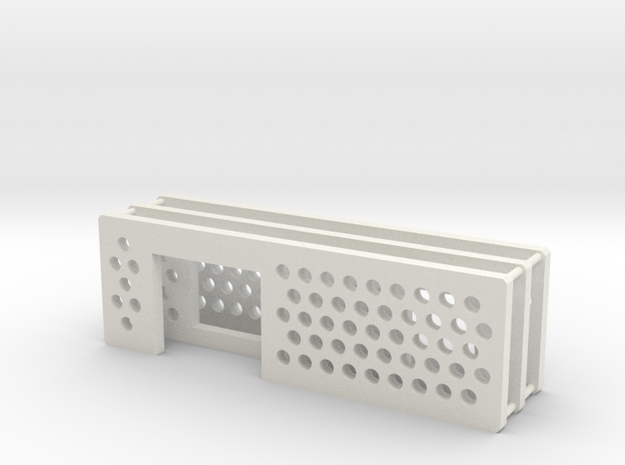 arduino enclosure ends: main, ethernet, db9 in White Natural Versatile Plastic