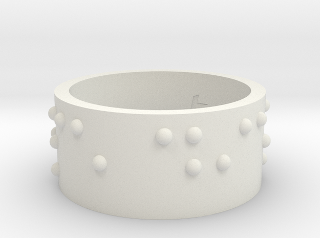 Braille Ring Carpe Diem in White Natural Versatile Plastic
