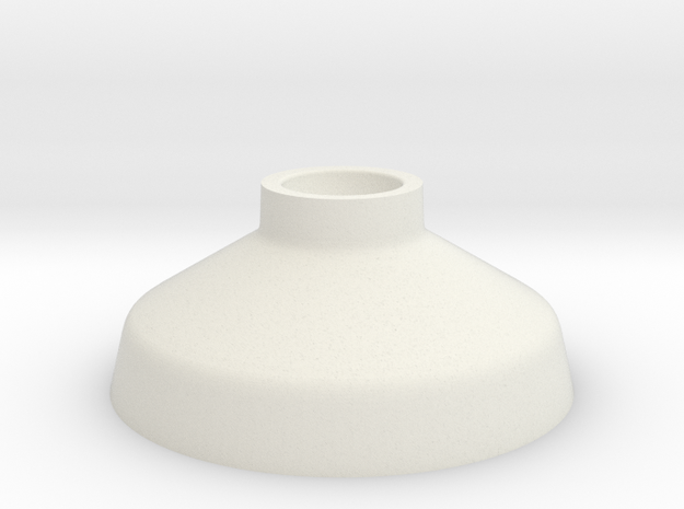 Candlestick low in White Natural Versatile Plastic