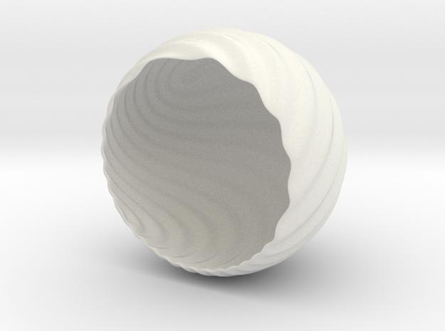 Shockwave Tea-Light Cover in White Natural Versatile Plastic