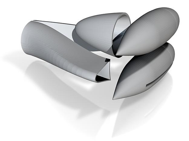 Team30 Micro EDF F9F Shapeways Models 3d printed