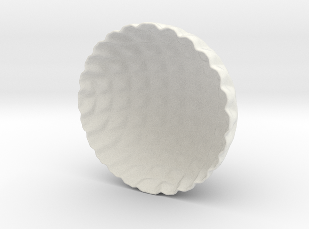 Lattice Tea-light Cover in White Natural Versatile Plastic
