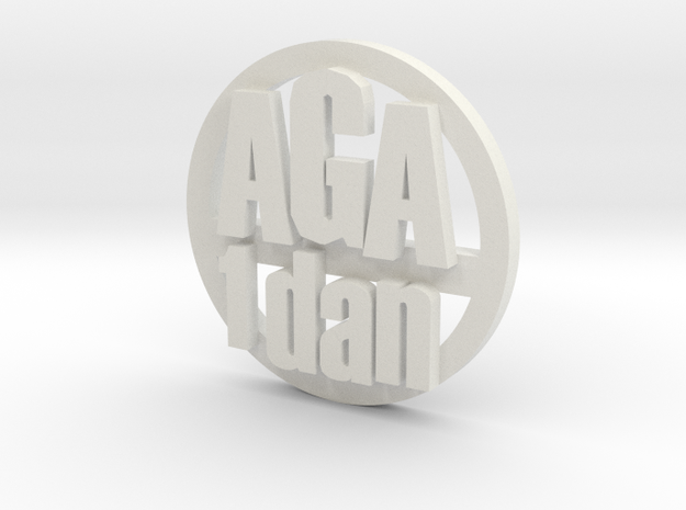 aga 1d coin in White Natural Versatile Plastic