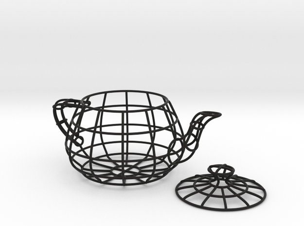 Wireframe teapot in White Natural Versatile Plastic