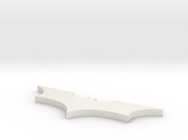 Batman Logo Necklace in White Natural Versatile Plastic