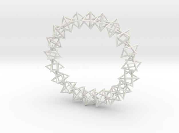 3d jewish star bracelet in White Natural Versatile Plastic