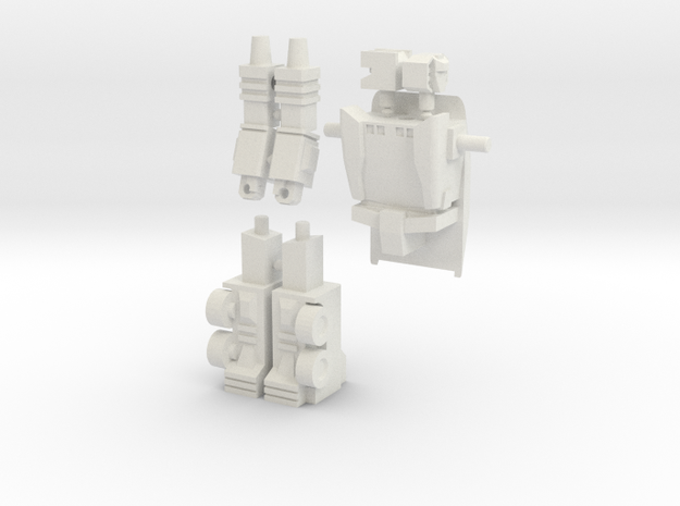 Scamper Minifigure in White Natural Versatile Plastic