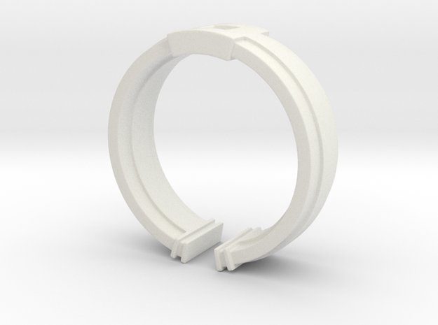 Box Ring in White Natural Versatile Plastic