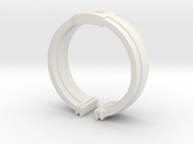 Box Ring in White Natural Versatile Plastic