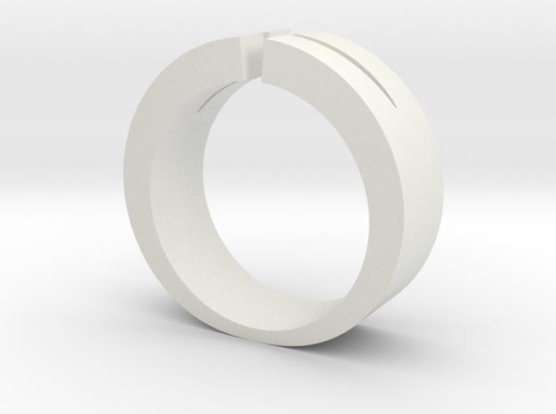 Split Ring in White Natural Versatile Plastic
