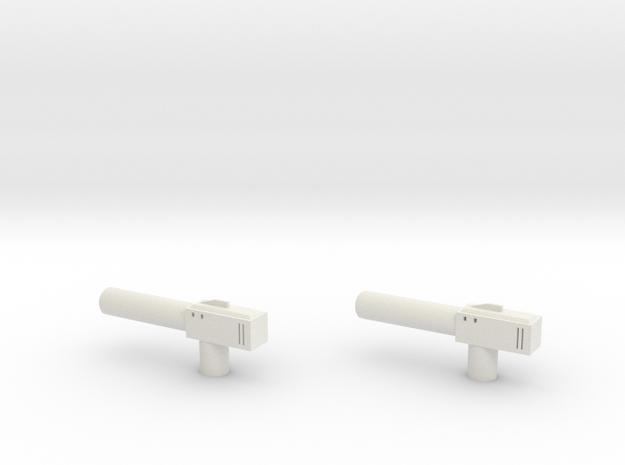 Sunlink - Barrel v1 Gun x2 in White Natural Versatile Plastic