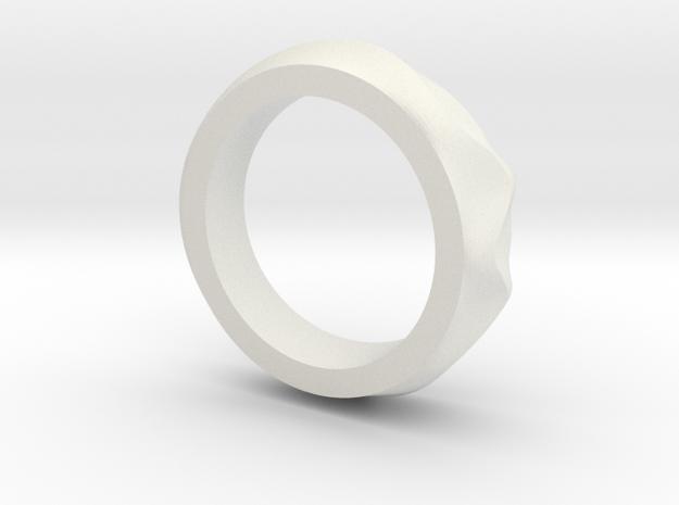 Dune ring in White Natural Versatile Plastic