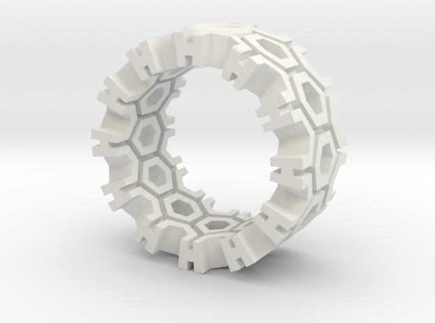 Hexagon Ring 3d printed
