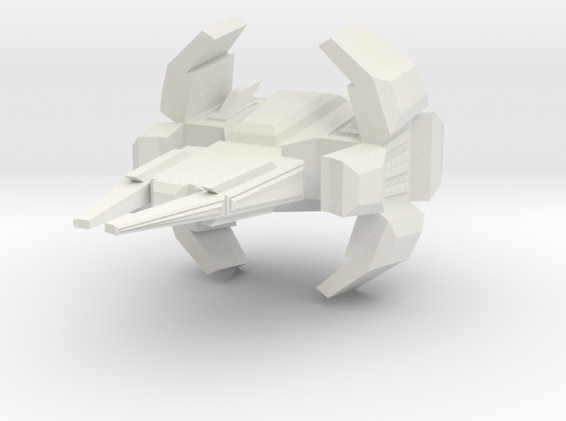 Space Force Patrol Frigate  in White Natural Versatile Plastic