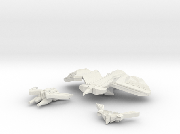 Royal Falcons Strike Craft in White Natural Versatile Plastic