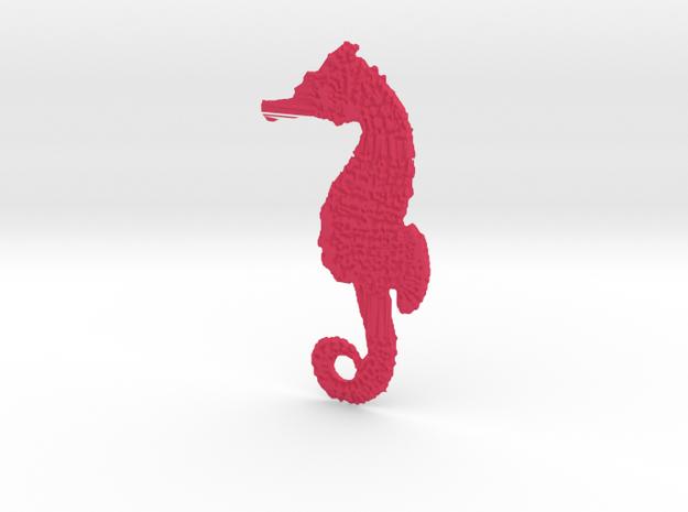 Seahorse in Pink Processed Versatile Plastic
