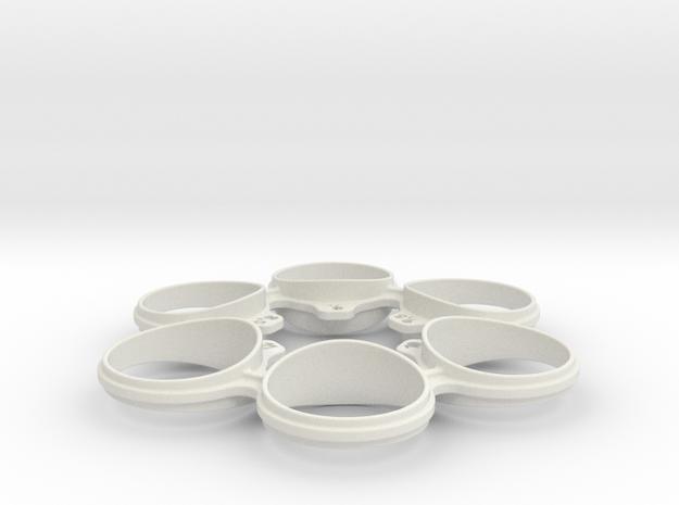 Revolver Ring Sizer - Medium in White Natural Versatile Plastic