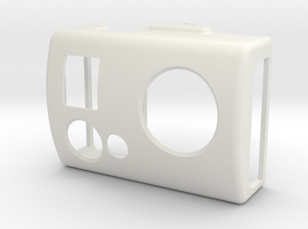 Front lid (3-axis camera gimbal for GoPro) in White Natural Versatile Plastic