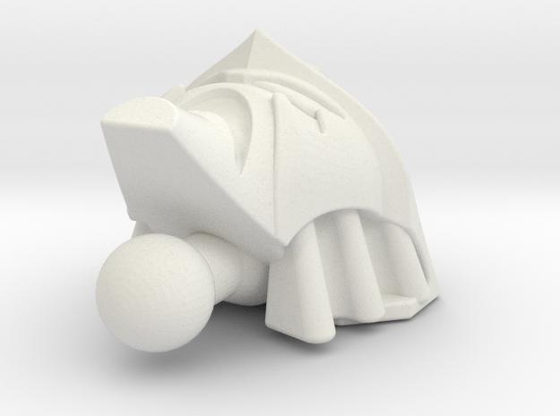 Depthcharge head for Animated starscream in White Natural Versatile Plastic