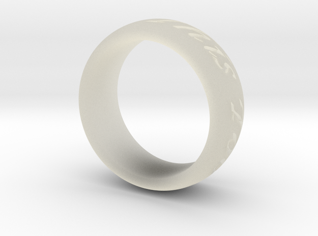 Custom Ring Outside Inscription  3d printed