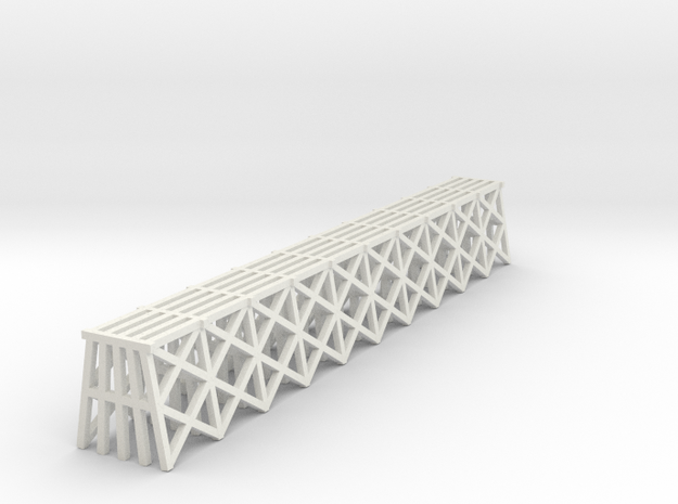 Trestle - Z scale in White Natural Versatile Plastic