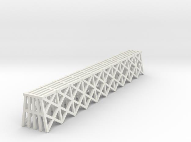 Trestle - Z scale in White Natural Versatile Plastic