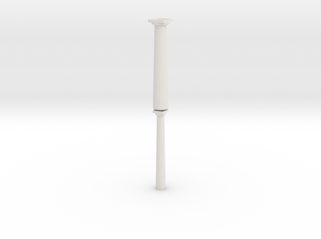Paired 17.5cm Doric Columns - hollow core - Hollo 3d printed