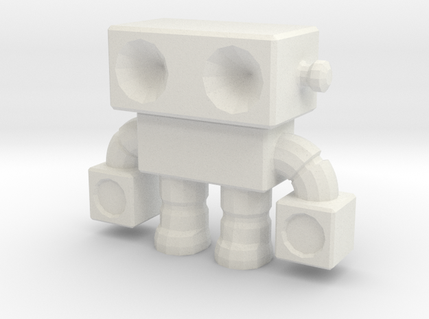 Robot 0014 in White Natural Versatile Plastic