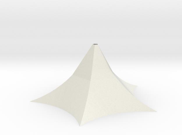 Sbird House 3 in White Natural Versatile Plastic