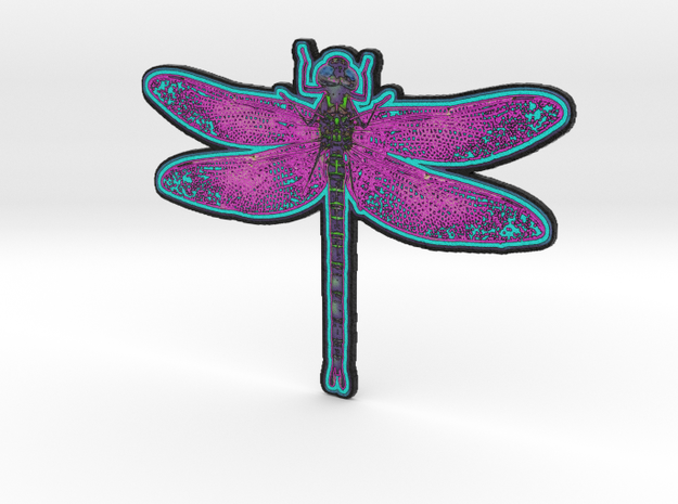Dragonfly A in White Natural Versatile Plastic