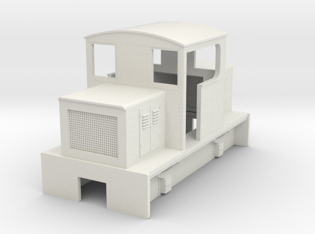HOn30 centercab body for Kato 11-103 (OC) in White Strong & Flexible