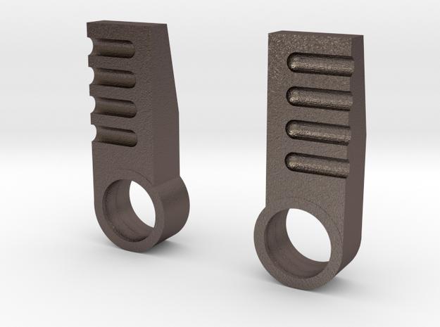 iGear Hench Brawn Stablising Heel Spurs - STEEL in Polished Bronzed Silver Steel