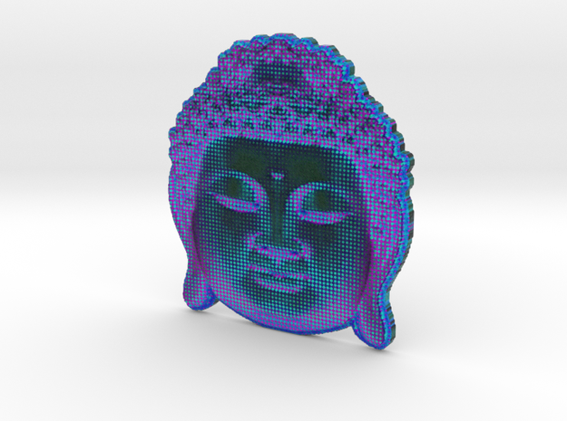 BuddhaViolet in White Natural Versatile Plastic