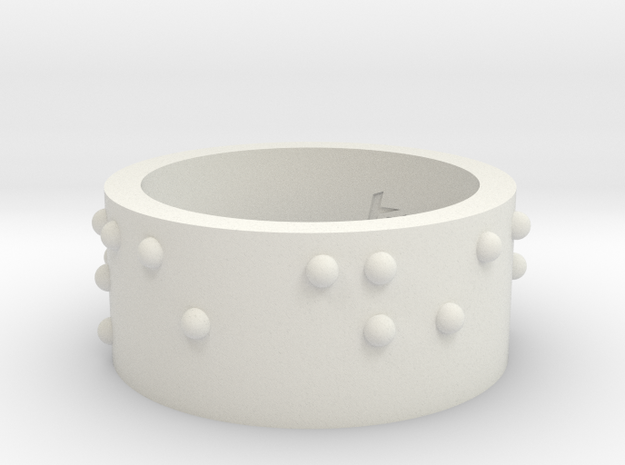 Ring_CarpeDiem_19mmx10mm in White Natural Versatile Plastic