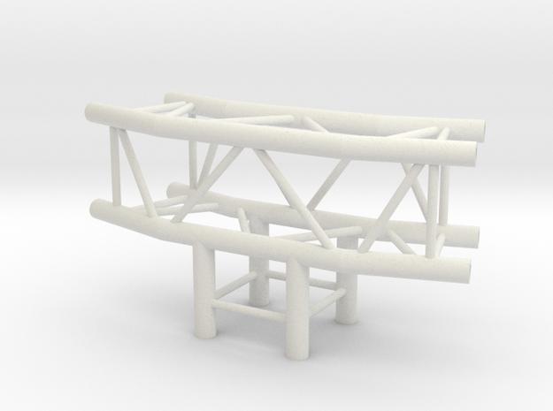 Square Truss L150+L90 1.10 in White Natural Versatile Plastic