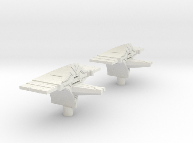 Fleet Scale Series 2: Heavy Alien Cruiser in White Natural Versatile Plastic