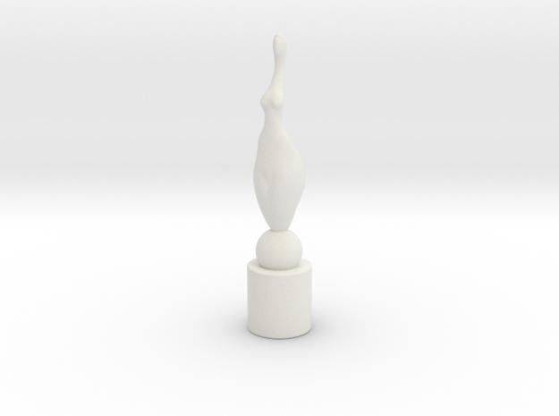 Carol in White Natural Versatile Plastic