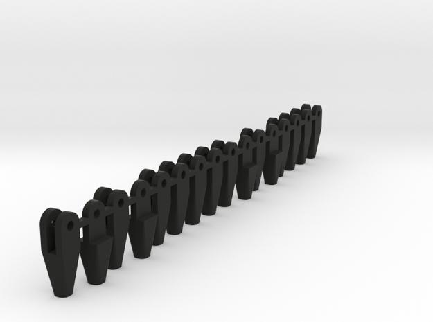 AK210_Verbindungsstuecke in Black Natural Versatile Plastic