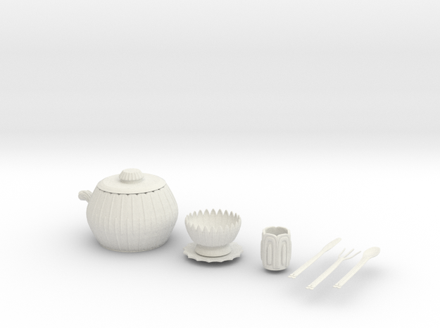 Elven Tea Set 3d printed