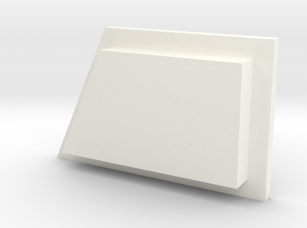 Babylon 5 Communicator Button 2 in White Processed Versatile Plastic