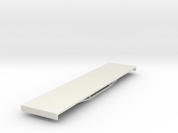 OO9 bogie flat (long) 3d printed