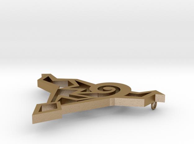 Lightning Pendant 3d printed