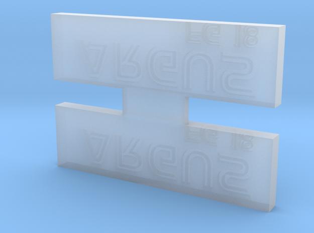 Argus Nameplate 3d printed