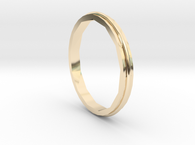 Square Two Ring - Sz. 5 in 14K Yellow Gold