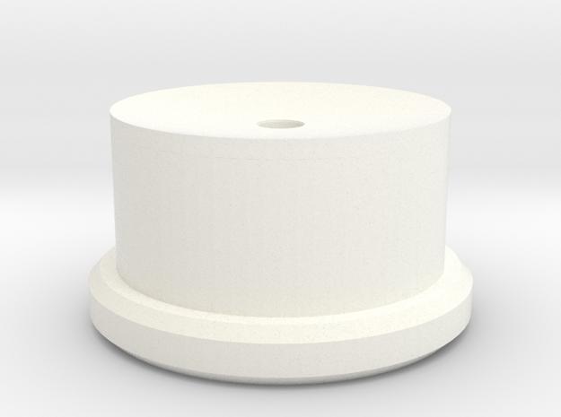Barrel Closing Tool Bottom in White Processed Versatile Plastic